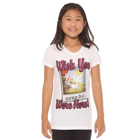 1774d9c043ea20 Disney - Disney Frozen Olaf Wish You Were Here Girls T-Shirt Size XS Only -  Walmart.com