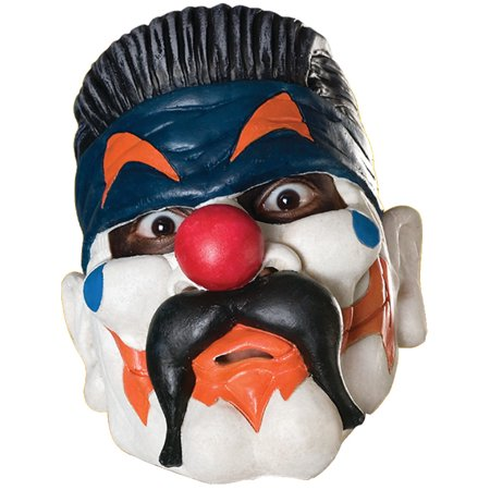 New Adult's Big Evil Clown Vinyl Costume Accessory Mask
