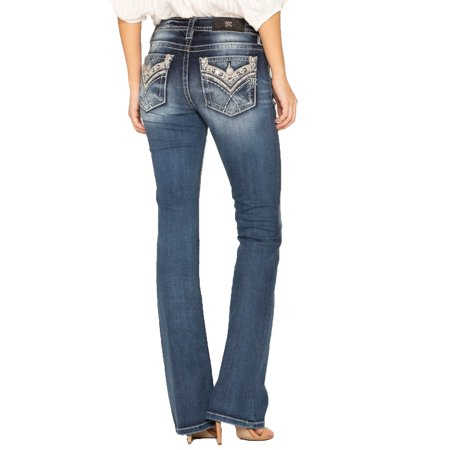 Miss Me Cross My Mind Boot Cut Jeans M3330B (Miss Me Colored Jeans)