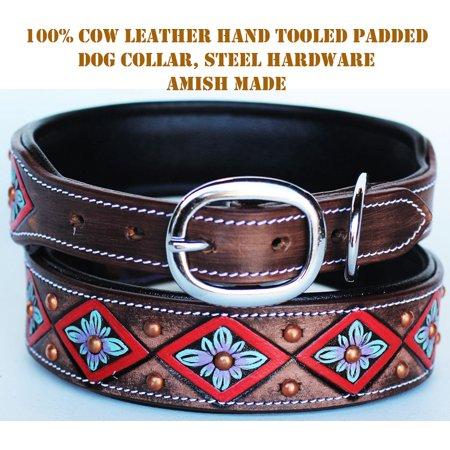 Rhinestone Dog Puppy Collar Crystal Western Cow Leather  6020RD