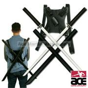 Twin Ninja Katana Sword Set With Back Strap
