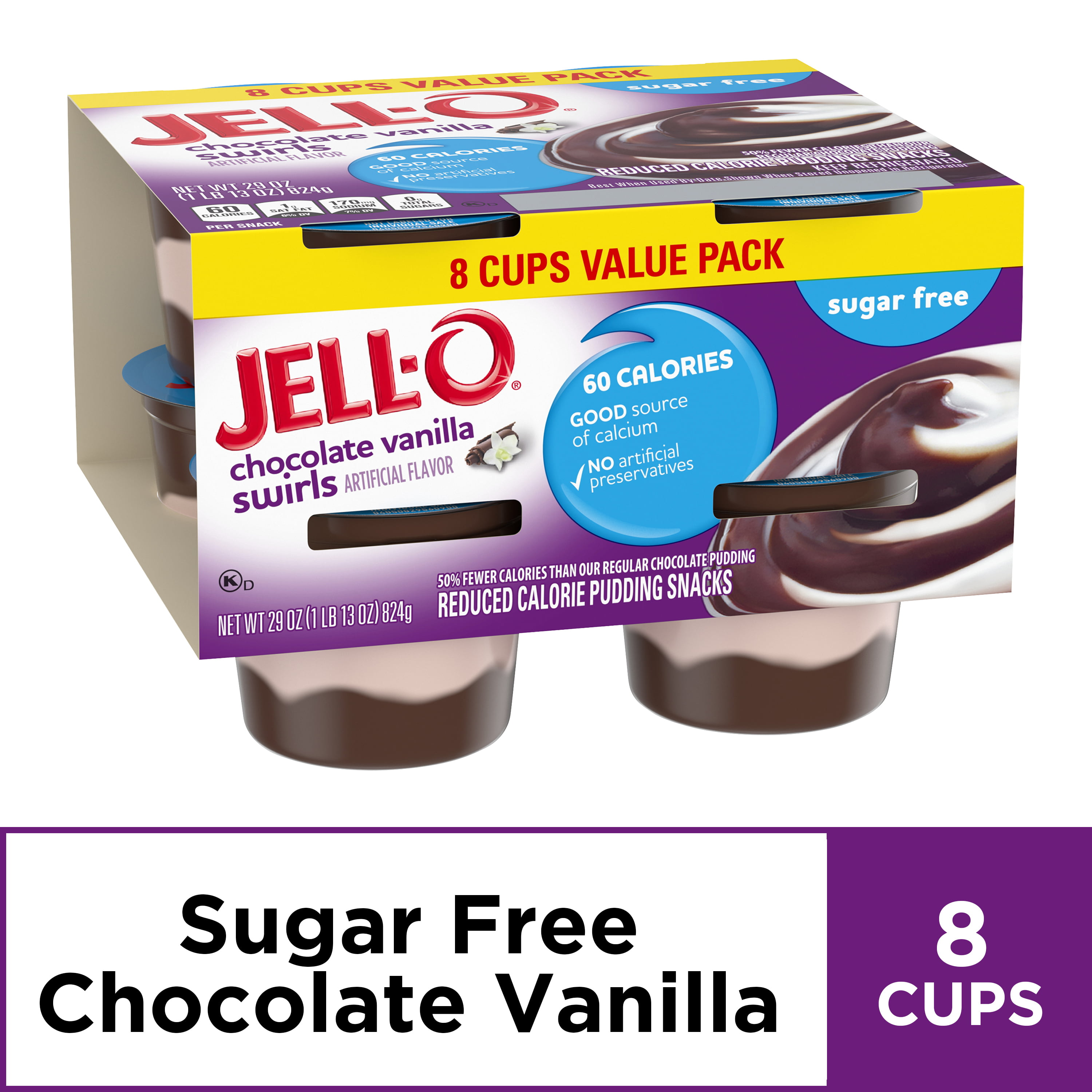 Jello Sugar Free Chocolate Vanilla Swirl Pudding Nutrition Facts Nutritionwalls