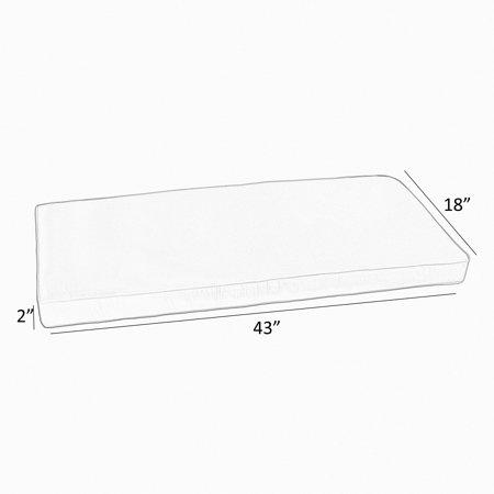 Humble and Haute Sunbrella Black White Stripe Indoor/Outdoor Bench Cushion 37