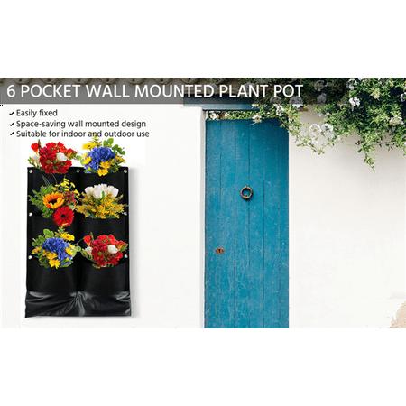 Topeakmart 6 Pocket Vertical Garden Planter Wall Mounted Garden Hanging Growing