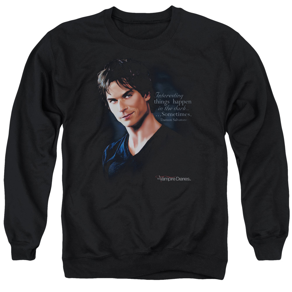 Vampire Diaries Sometimes Mens Crewneck Sweatshirt