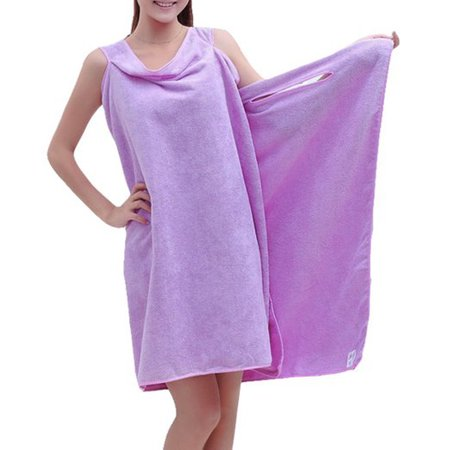 Outgeek Magic Sexy Women Lady Body Wrap Absorbent Microfiber Shower Bath Drying Towel for Home Travel (Purple)](Shower Wrap)