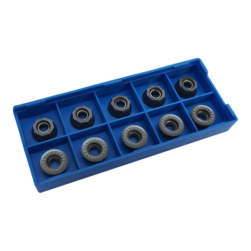 10 Pc RPMT1204 carbide Inserts 3/16'' Insert Thickness  Milling Lathe