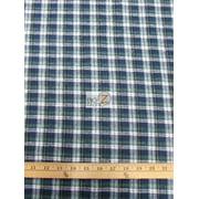 Tartan Plaid Uniform Apparel Flannel Fabric / Navy/Green / Sold By The Yard