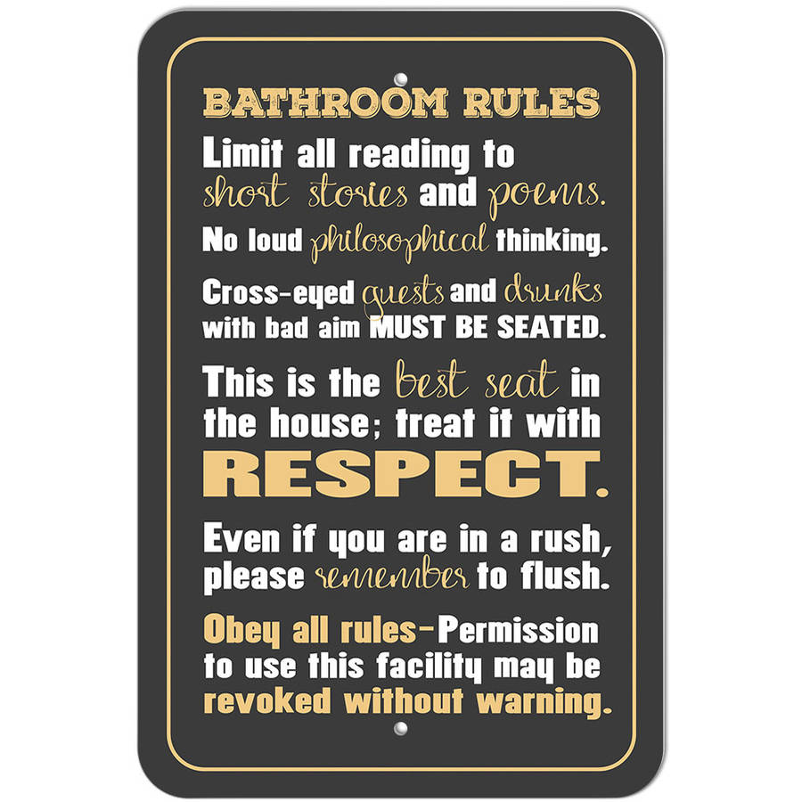 Bathroom Signs Walmart bathroom rules silly sign - walmart