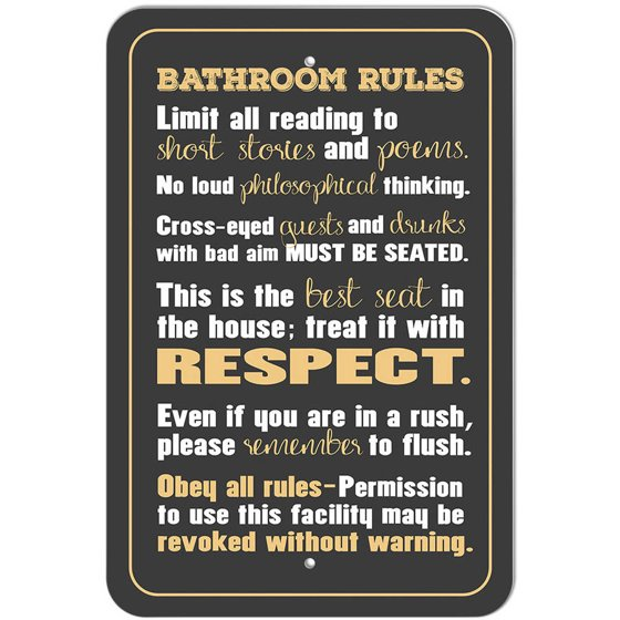 Swell Bathroom Rules Silly Sign Download Free Architecture Designs Sospemadebymaigaardcom