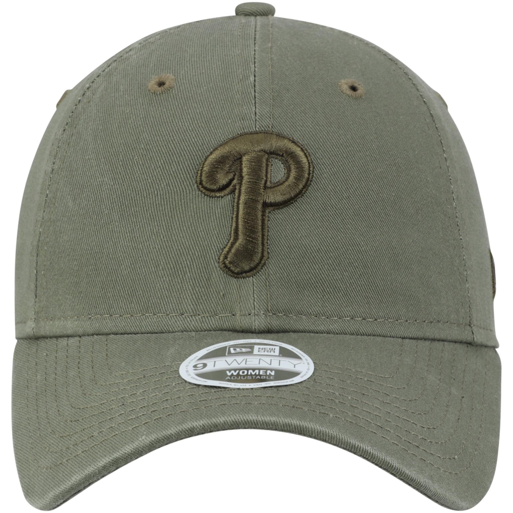 buy popular d7261 c7289 Philadelphia Phillies New Era Women s Bark Tonal Core Classic 9TWENTY  Adjustable Hat - Olive - OSFA - Walmart.com