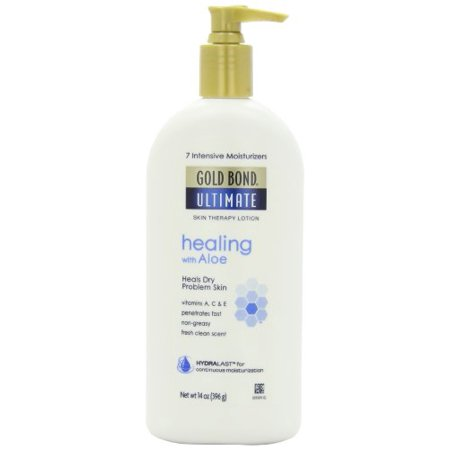 Golden Therapy (Gold Bond Ultimate Healing Skin Therapy Lotion for Dry Skin, Aloe, 14 Ounce Pump)