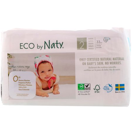 Naty  Diapers for Sensitive Skin  Size 2  6-13 lbs  3-6 kg   33 (Convert 3-3 Kg To Lbs And Oz)