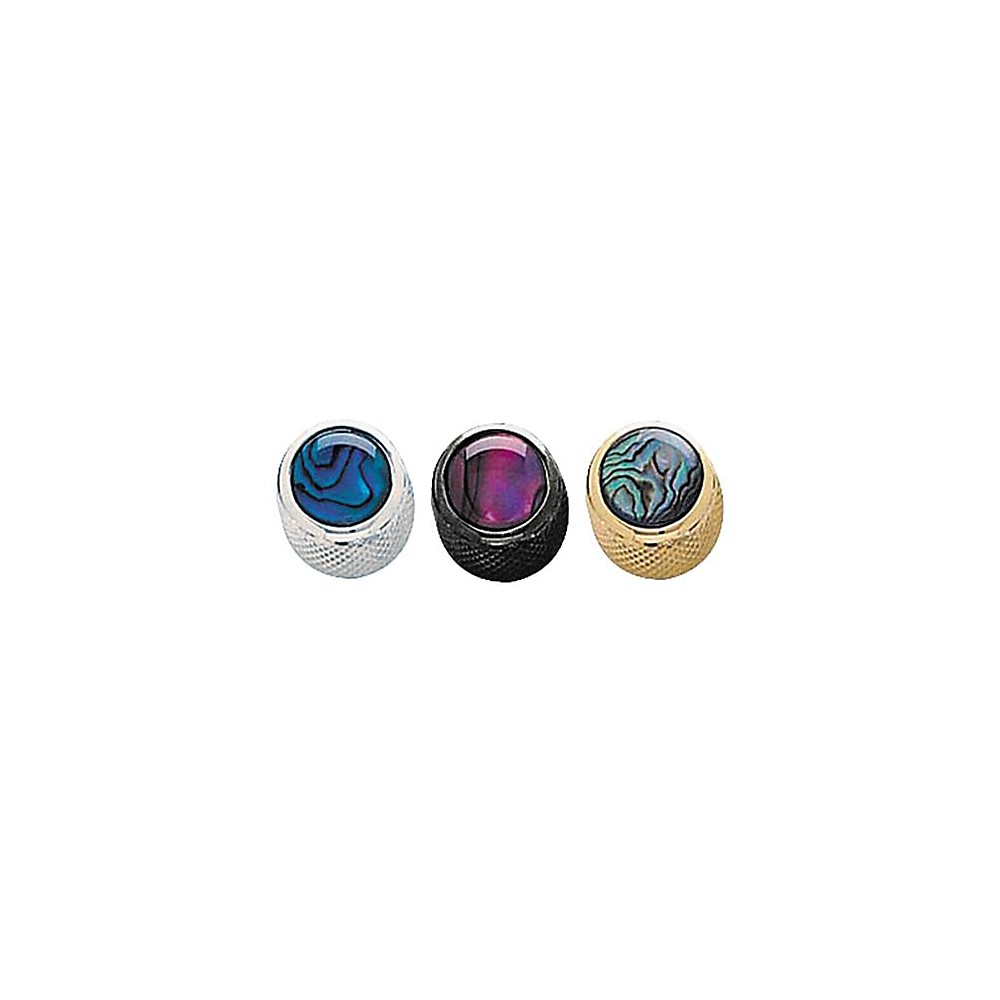 Q Parts Shell Dome Knob Single Gold Purple Abalone by Q Parts