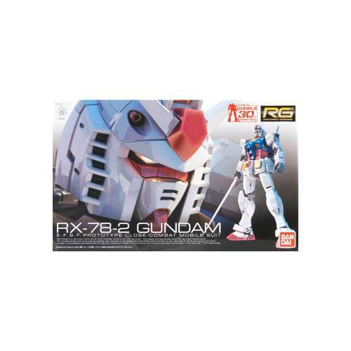 Bandai Hobby Mobile Suit Gundam RX-78-2 Gundam RG 1/144 Scale Model Kit