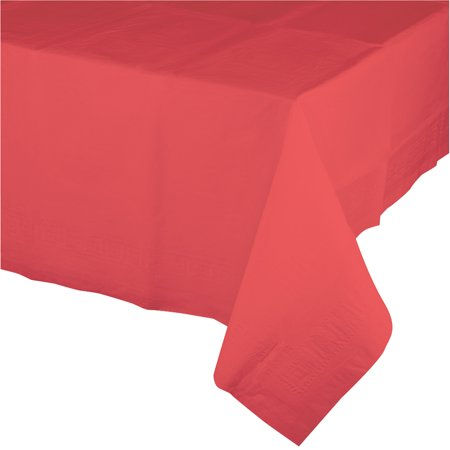 Coral Plastic Tablecloth, each](Coral Table Cloth)