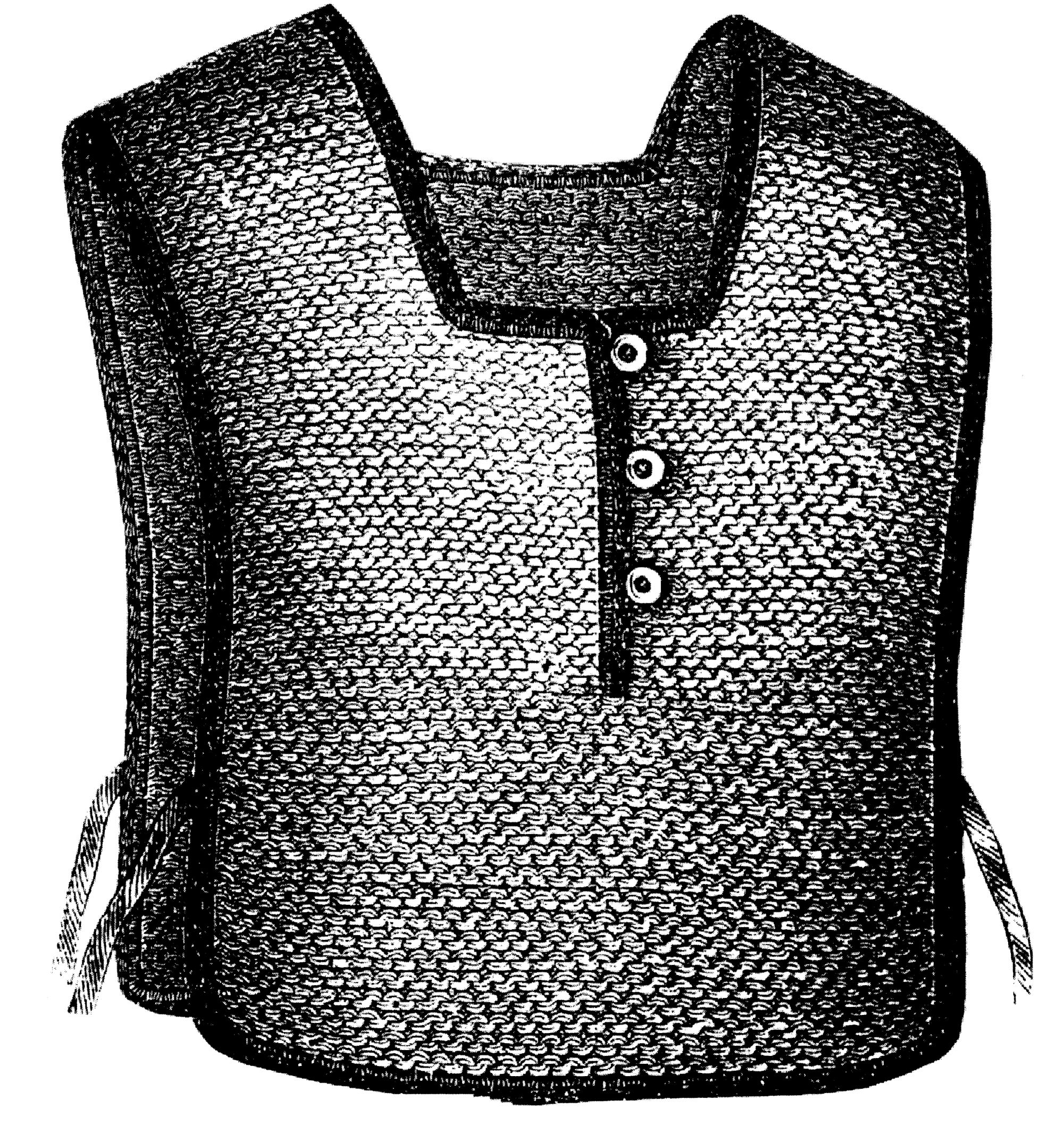 Sewing Pattern: 1876 Knitted & Crochet Chest Protector Pattern