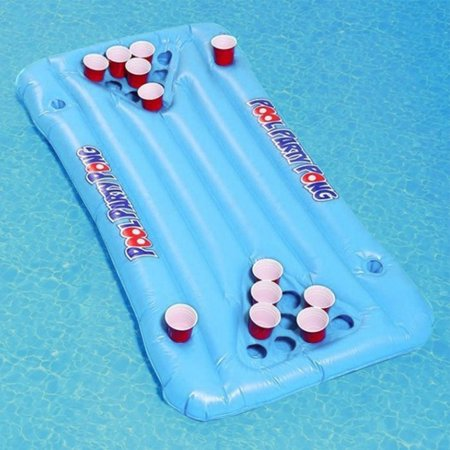 Beer Pong Pool Float Inflatable Floating Beer Pong Table Party Pool Lounge Raft For Men Women Walmart Canada
