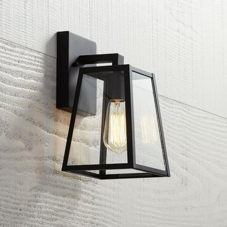 John Timberland Arrington 10 3 4 High Mystic Black Outdoor Wall Light