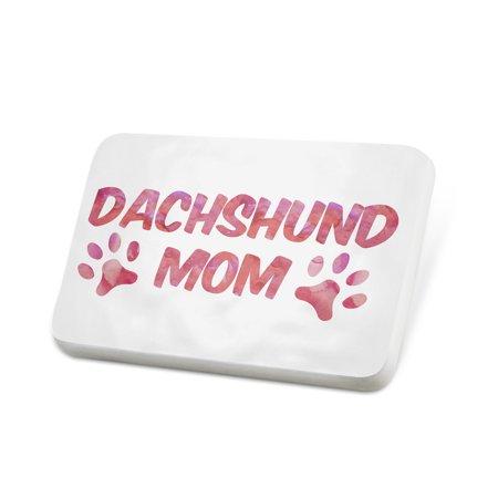 Porcelein Pin Dog & Cat Mom Dachshund Lapel Badge – NEONBLOND