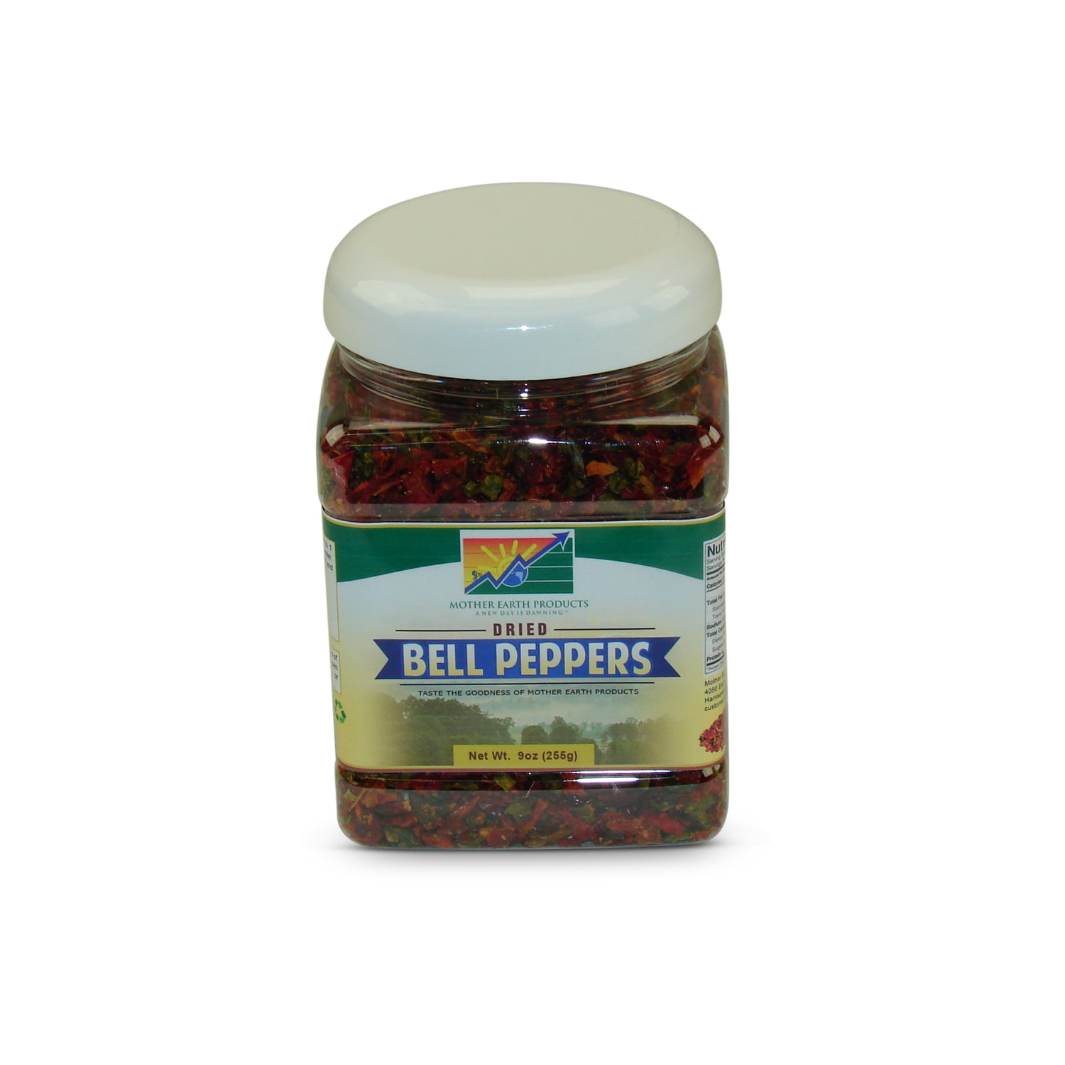 Mother Earth Products Dehydrated Mixed Bell Peppers, jar by Mother Earth Products