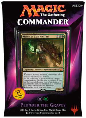 Magic The Gathering Commander 2015 Plunder the Graves Deck by