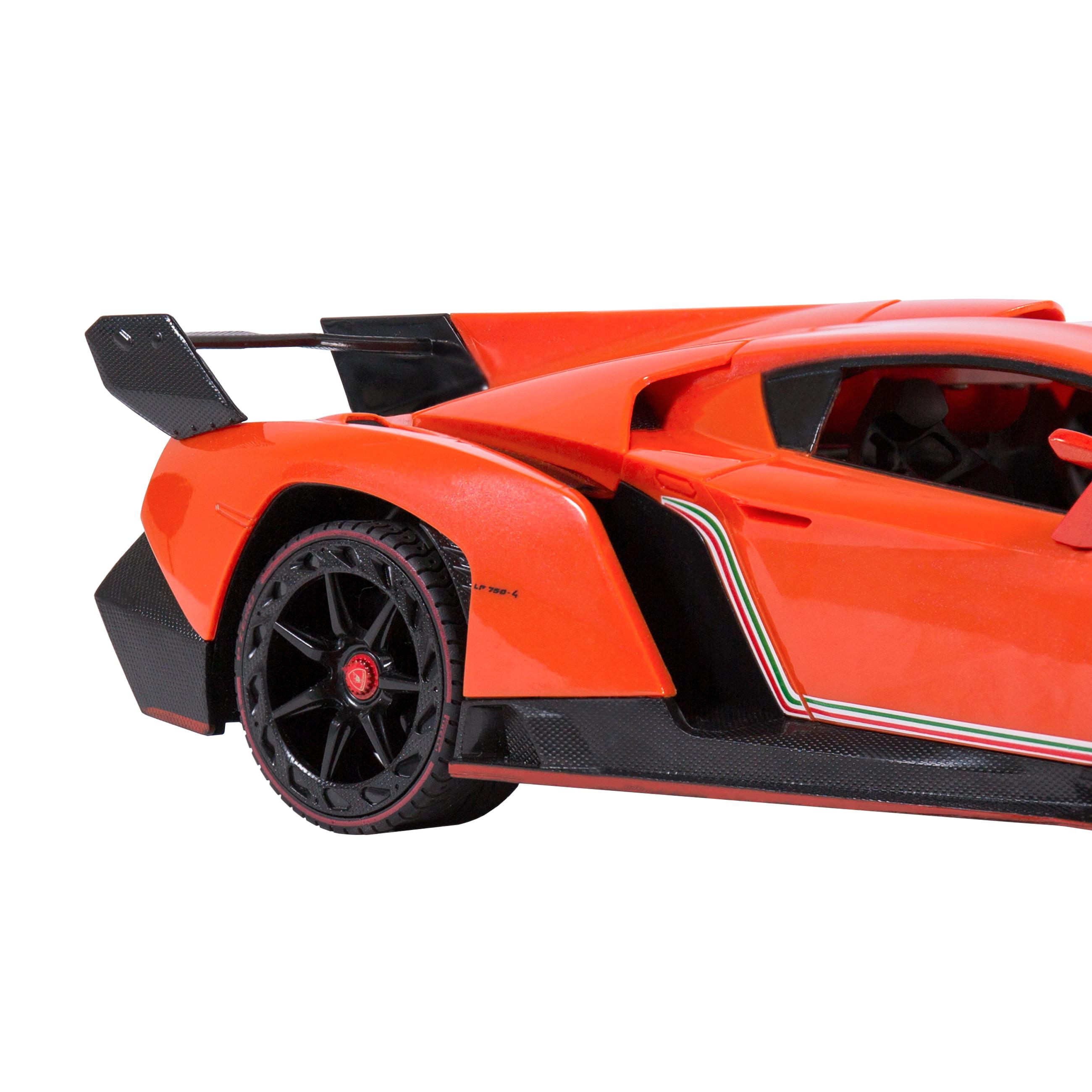 Best Choice Products 1/14 Scale RC Lamborghini Veneno Gravity Sensor Radio  Remote Control Car (Orange)   Walmart.com