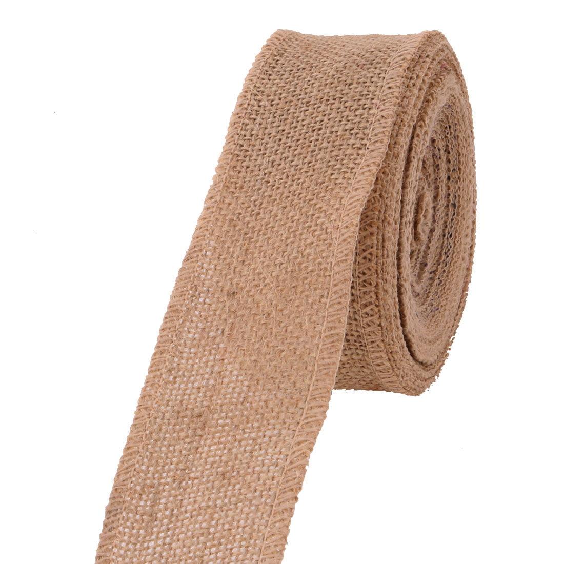 Christmas Day Burlap Gift Wrapping DIY Handcraft Ribbon Roll 11 Yards