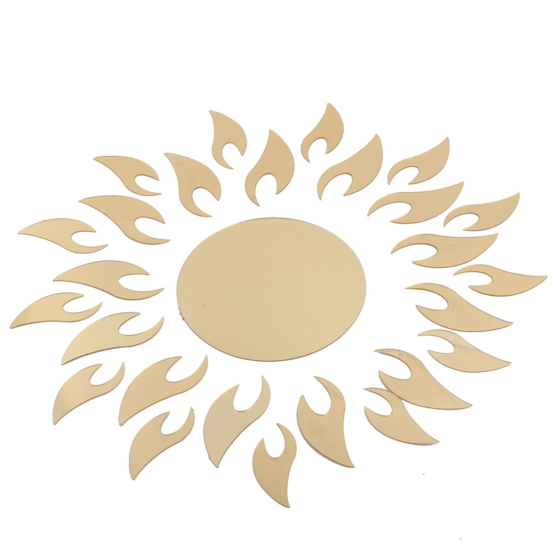 Living Room Sparkly Sun Pattern Decoration Wall Sticker Decal Set Gold Tone