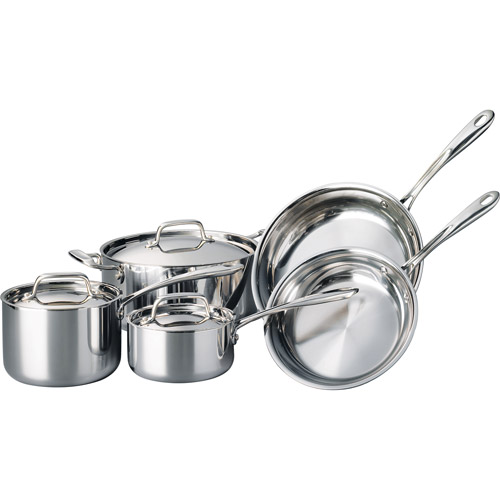 Tramontina 8-Piece 18/10 Stainless Steel TriPly-Clad Cookware Set
