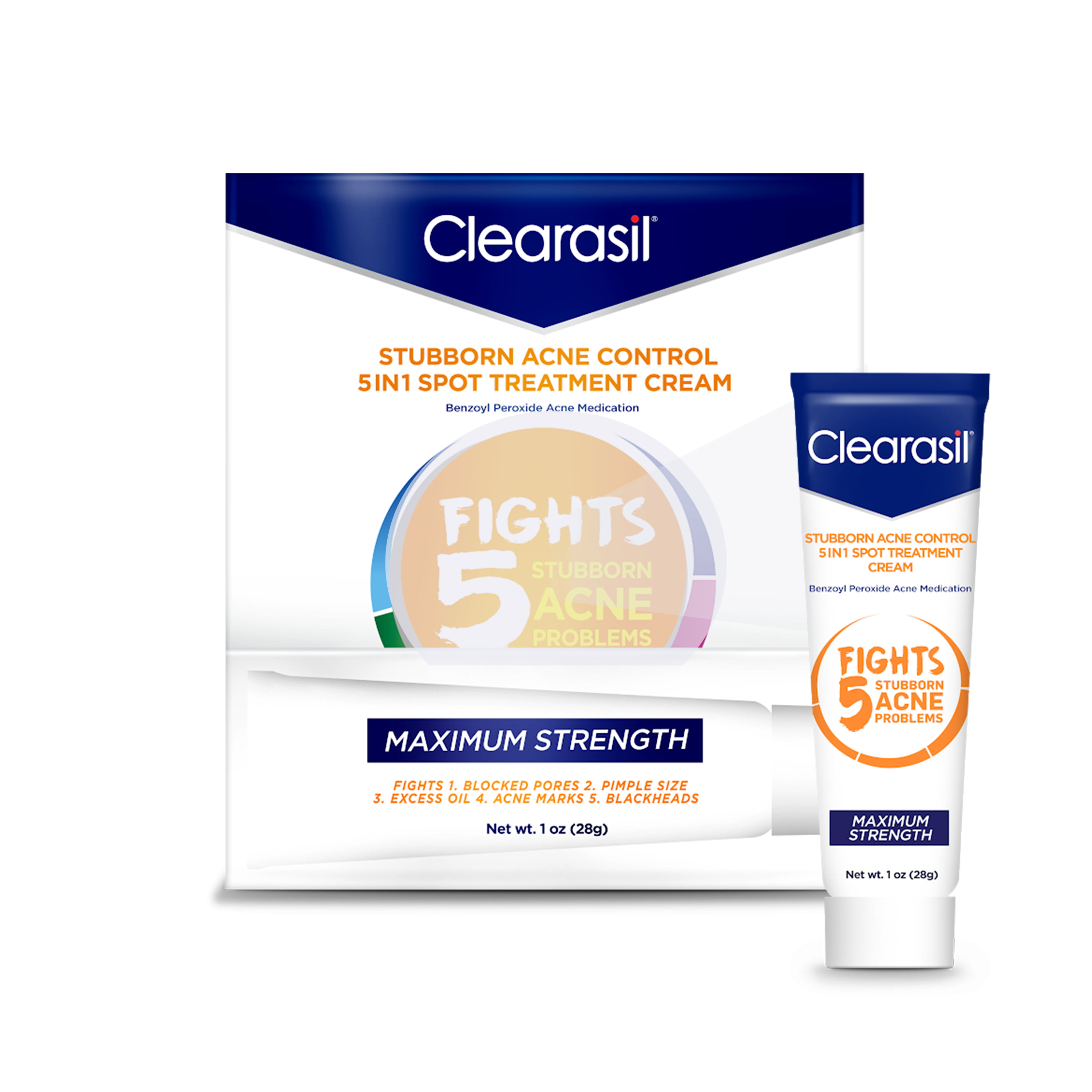 Clearasil Benzoyl Peroxide Stubborn Acne Spot Treatment Cream 1