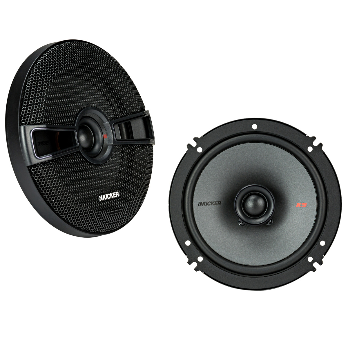 "KICKER 44KSC6504 6.5"" (160mm) Coax Spkrs w/.75""(20mm) tweeters, 4ohm, RoHS Compliant"