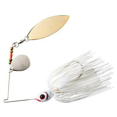 2PK BOOYAH 3/8 oz Blade Pearl White & Snow White Fishing Lure thumbnail