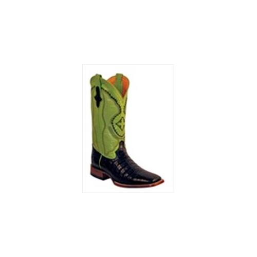 Ferrini 1249304095EE Mens Genuine Belly Caiman Square Toe Boots, Black, 9. 5EE by