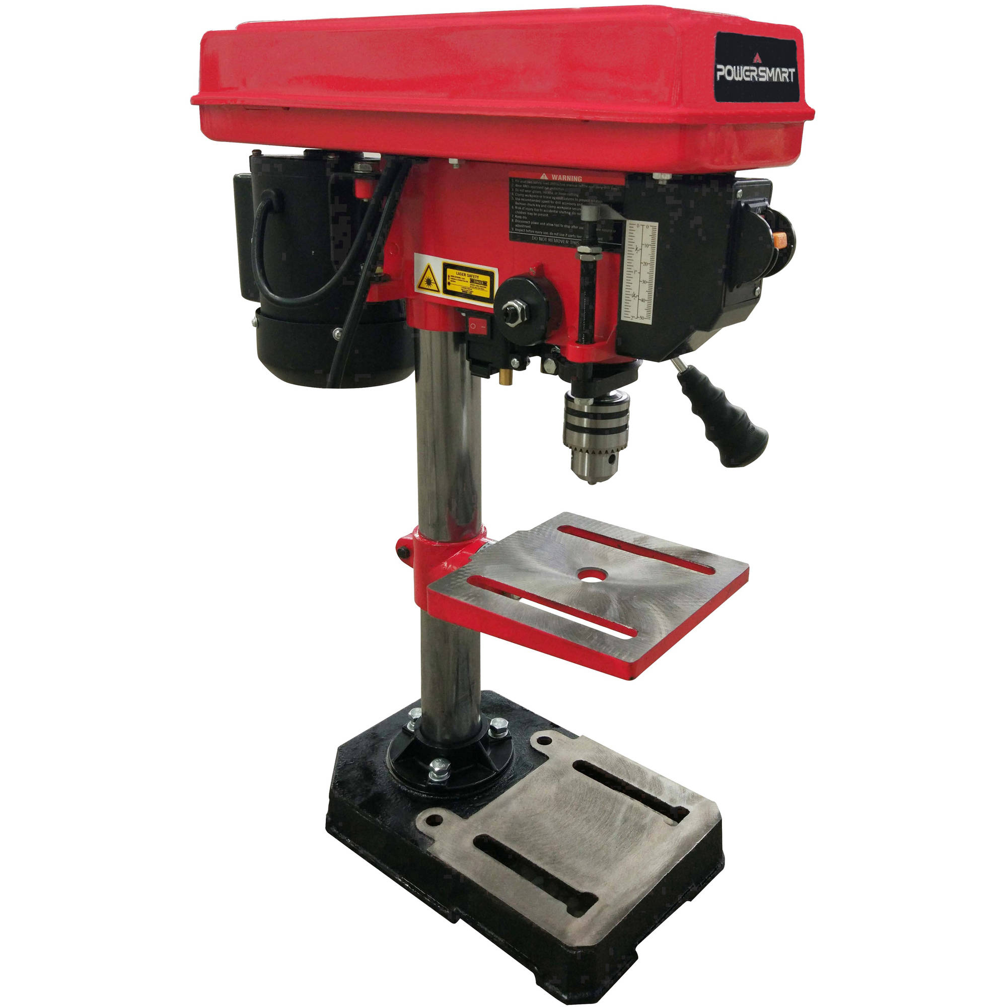 "PowerSmart PS308 8"" 5 Speed Drill Press with Laser Guide"