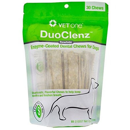 VetOne DuoClenz EnzymeCoated Dental Chews Small (30 count), Dual-Enzymatic, flavorful chews to help keep teeth clean and freshen breath. By Vet
