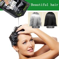 Cotonie 10PCS Black Hair Shampoo White Hair into Black Instant Hair Dye Natural Black