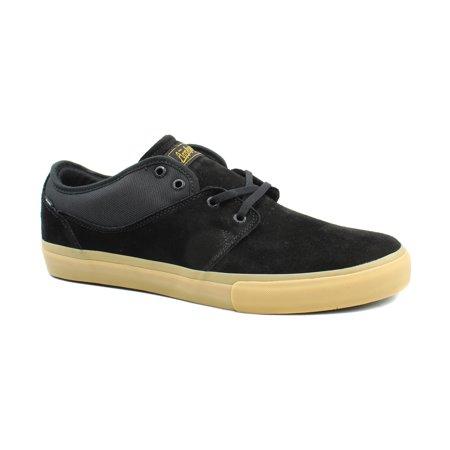 Black Suede Casual Shoes (Globe Mens Mahalo Black Suede Skateboarding Casual Sneaker)