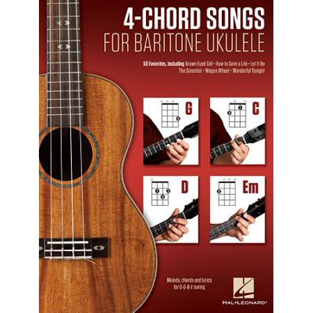 4-Chord Songs for Baritone Ukulele (G-C-D-Em) : Melody, Chords and Lyrics for D-G-B-E Tuning (Halloween Song Lyrics And Chords)
