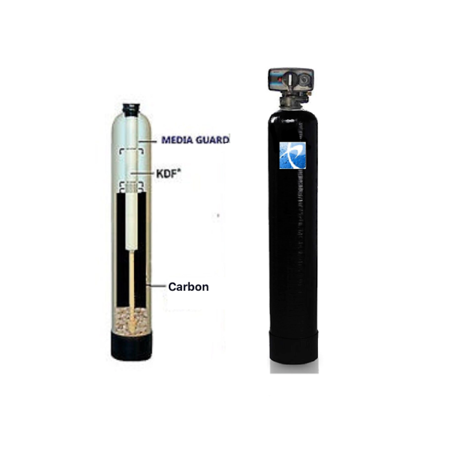 Premier Whole House Well Water Filtration System Fleck Control Valve GAC/KDF85  - Iron, Hydrogen Sulfide (Best Iron Removal System)