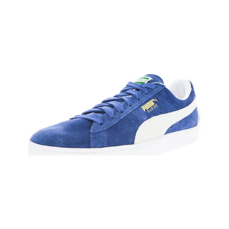 Puma Men's Suede Classic Olympian Blue / White Ankle-High Fashion Sneaker - 12M Ben Sherman Womens Shoes