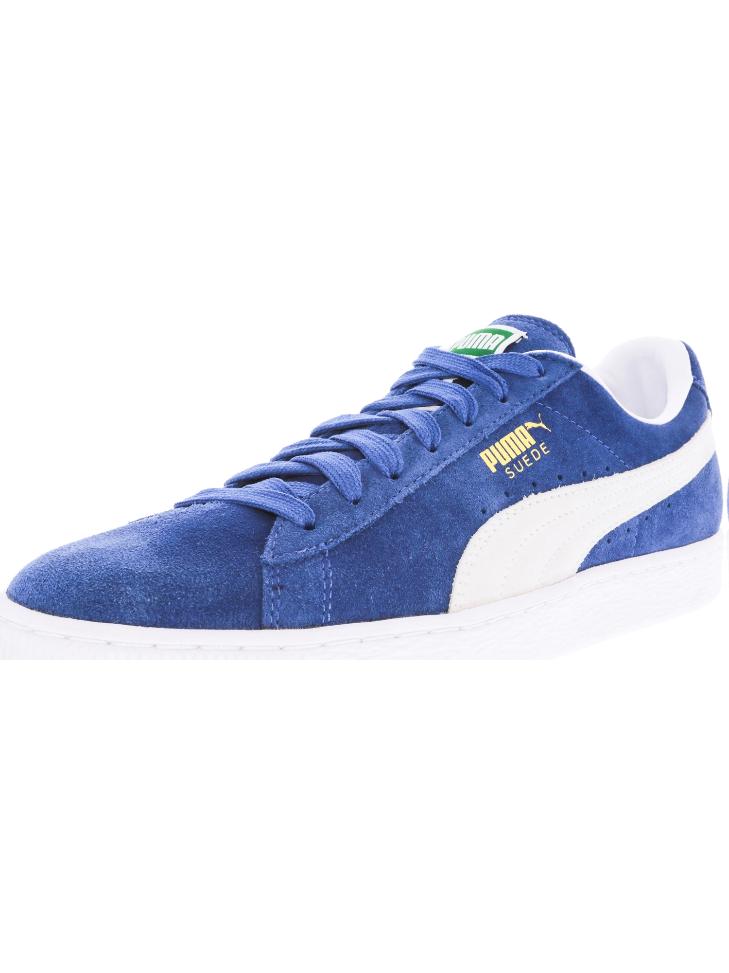 Puma Men's Suede Classic Olympian Blue / White Ankle-High Fashion Sneaker - 10.5M