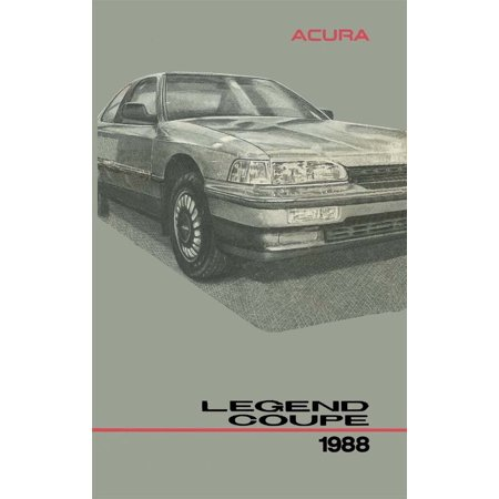 Bishko OEM Maintenance Owner's Manual Bound for Acura Legend Coupe 1988 (89 90 Acura Legend Coupe)