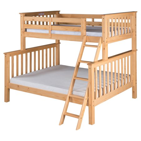 Santa Fe Mission Tall Bunk Bed Twin over Full - Angle Ladder - Multiple Finishes