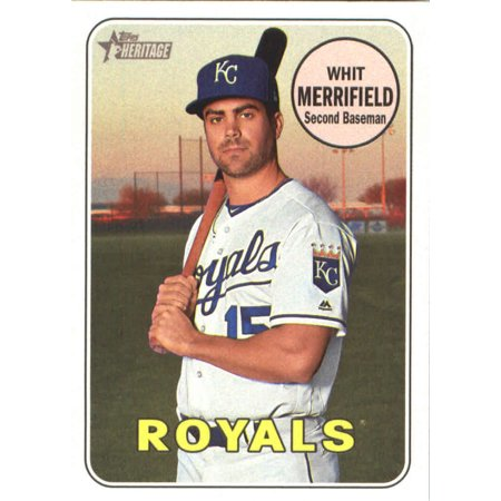 2018 Topps Heritage 375 Whit Merrifield Kansas City Royals Baseball Card