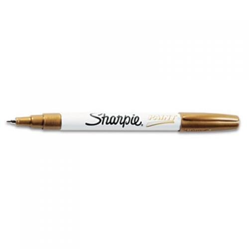 Sharpie Permanent Paint Marker, Fine Point, Black