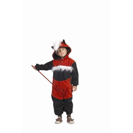 Quinny the Guinea Pig Toddler Funsies Costume-Funsies - Toddler One Size (3t-4t)-Rust Black And White