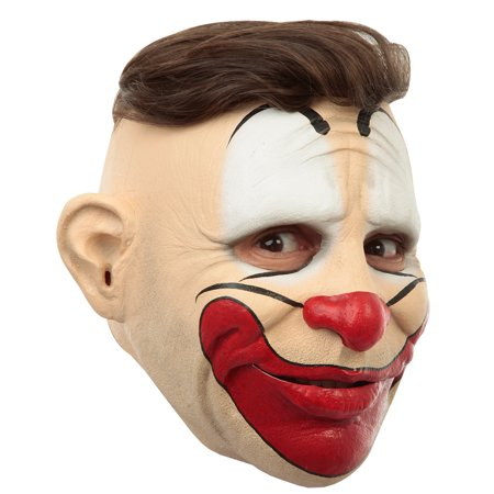 Adult Customizable Hairstyle Friendly Clown Latex Mask - Hairstyles For Halloween