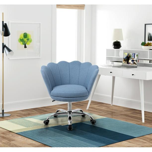 velvet swivel chair midback support living room accent