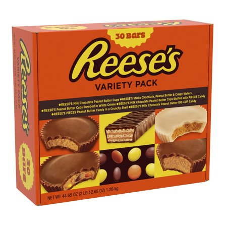 REESE'S Variety Pack Assortment, 30 Count - Reese Pieces Halloween Size
